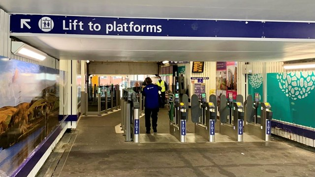 Better subway and ticket barriers for Rochdale rail passengers: Rochdale station subway after repainting work