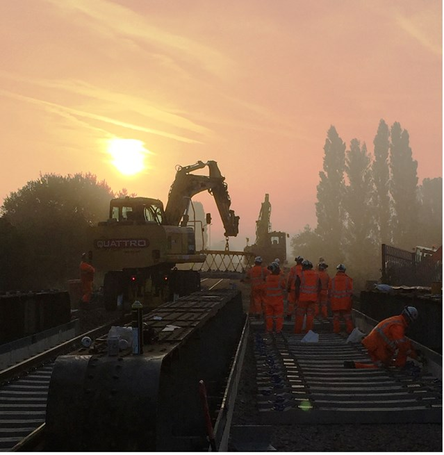 Passengers can go with the flow following installation of new bridge between Ely and Peterborough: Harts bridge replacement works
