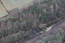 Early aerial photographs of the damage at Farnley Haugh