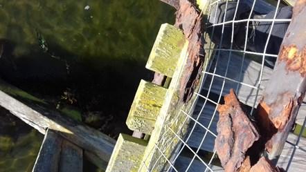 Lossiemouth East Beach footbridge update: Broken tie, missing central section
