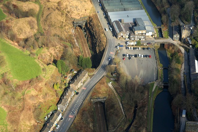 Summit Tunnel aerial image Calderbrook end-3