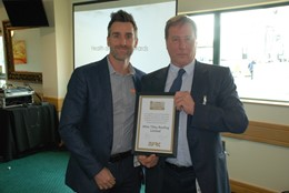 Matthew Goddard (pictured above left), Area Director at Mitie presented with the award