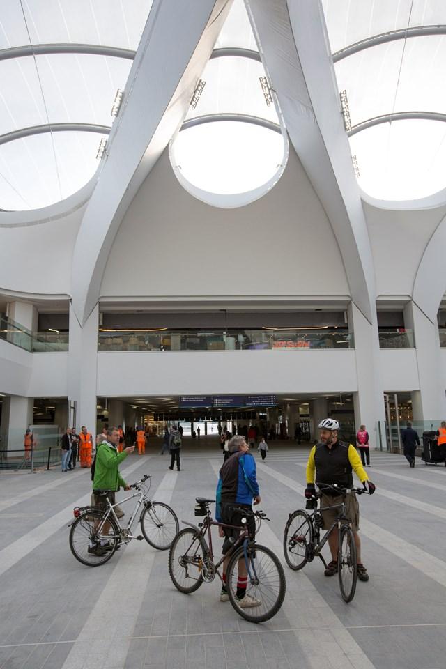 bikes in atrium