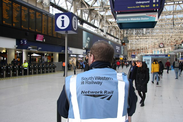 Britain's busiest railway station putting passengers first with better travel advice and new uniforms for station staff: Waterloo station support