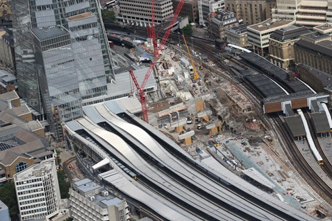 Thameslink Programme - Aerial view of London Bridge 10