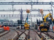 Blackpool North overhead equipment