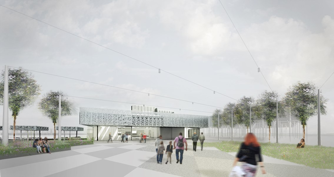 Cambridge MP Daniel Zeichner visits site of new £50m station: scene 4 day high res