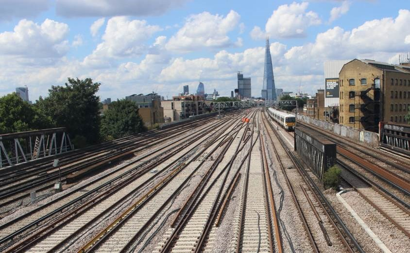 Thameslink Programme new lines: The new lines on the eastern approach to London Bridge, which the Thameslink Programme will bring into use during the August blockade