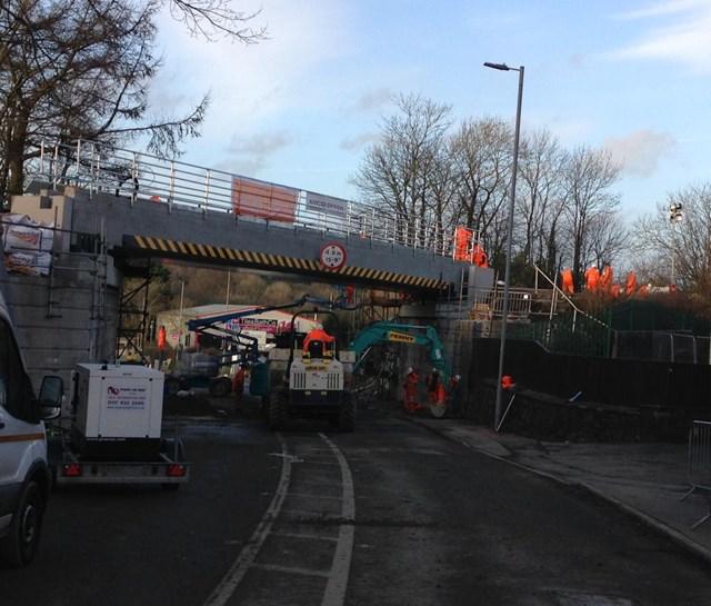 Milford Road bridge work ongoing