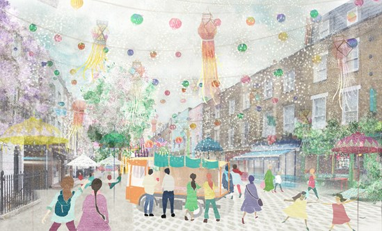Renowned Camden culinary street latest to benefit from HS2's Business Fund with £650,000 award: Drummond Street high street