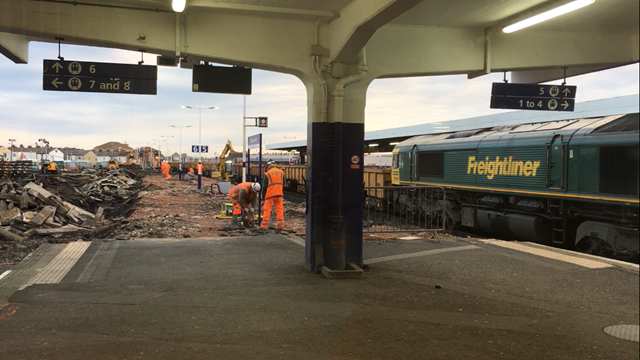 Blackpool platform demolition week 1-2