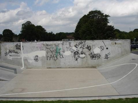 Skate park in Trowbridge blighted by graffiti