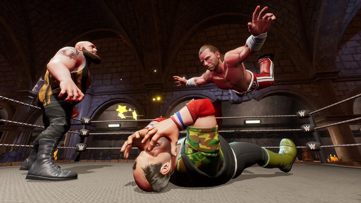 WWE2K BG Big Show vs HBK vs Sgt Slaughter