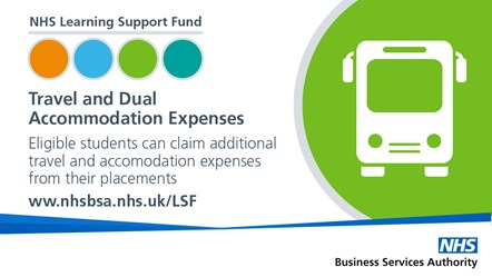 NHS LSF - Tweets (2)-TDAE: Eligible students can claim additional travel and accommodation expenses from their placements