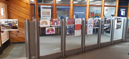 Northern staff celebrate NHS staff and keyworkers with vibrant display at Manchester station: Manchester Oxford Road Wall Art 3