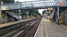 Fulwell drainage works: following the completion of the two week closure, the Shepperton line re-opened early on Sunday, 31 July