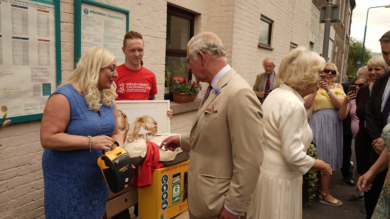 Three more defibrillators confirmed for Heart of Wales thanks to the Prince of Wales: HRH4