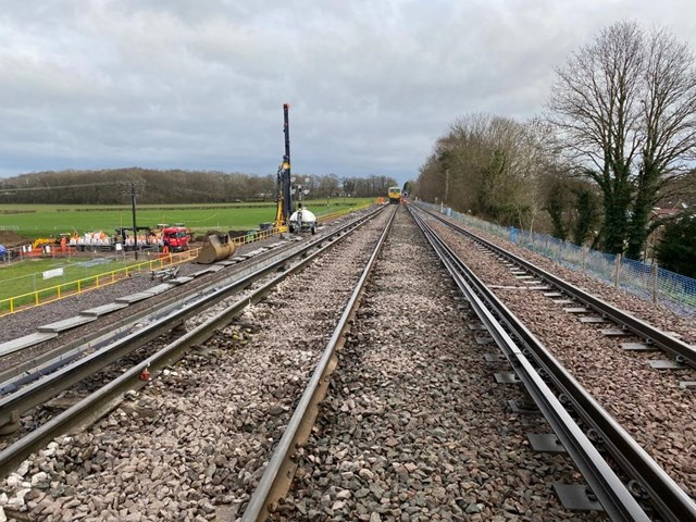 Network Rail reopens railway between Aldershot and Guildford following 40-metre landslip: Wanborough repairs 1