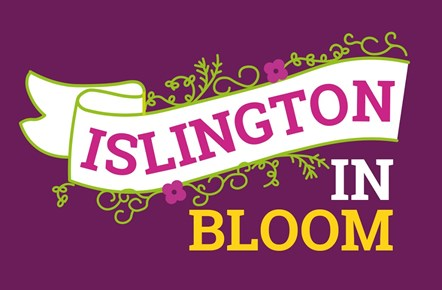 The logo for Islington in Bloom 2021