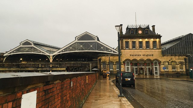 Preston station exterior shot