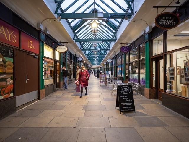 TfL Image- Retail arcade at Liverpool Street station