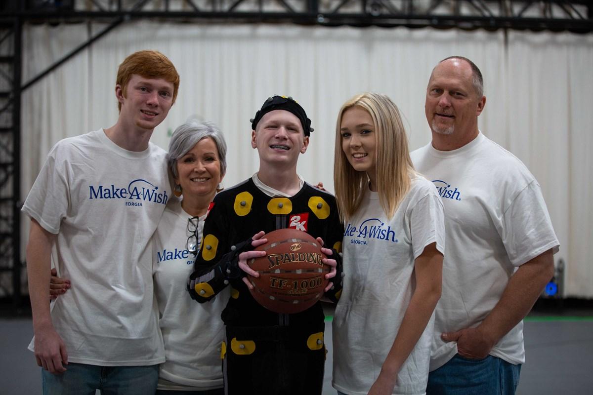 Make-A-Wish and NBA 2K - Family at Mocap