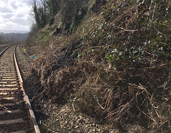 Passengers urged to check before they travel following landslip on Calder Valley Line: Landslip near Halifax.jpg-2
