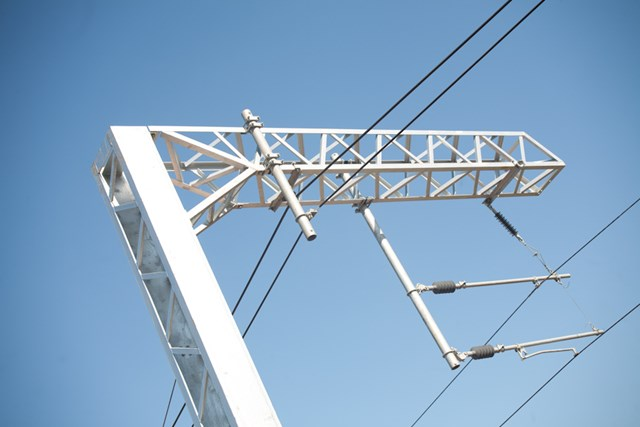 Overhead wires carrying upto25000volts