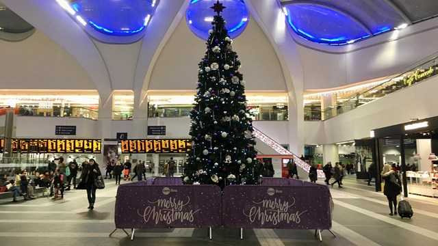 Thousands of Black Friday bargain hunters expected through Birmingham New Street: Birmingham New Street Christmas tree 2018