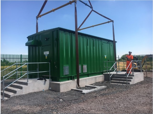 Walsall-Rugeley Electrification new substation at Brereton (Rugeley)