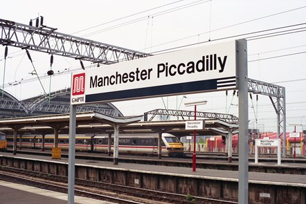 Manchester Piccadilly Station sign