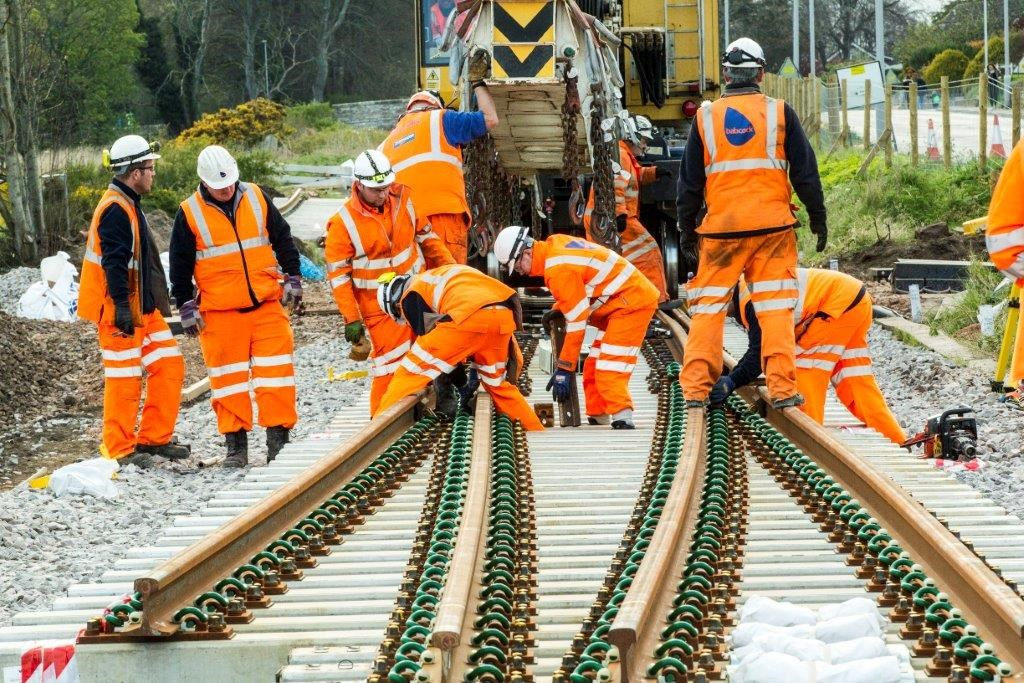 Railway upgrade work gets underway in Aberdeen: A-I - Elgin west new points