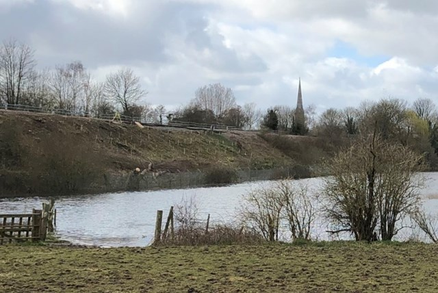 Salisbury and Romsey line expected to reopen at the end of March following landslip: Romsey flooding Mar 20