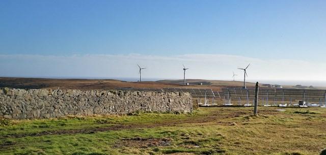 Powering Fair Isle: fair isle electricity scheme cut