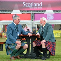 Fergus Ewing with Norman McPherson of Clan Macpherson: Images by Ian Rutherford.