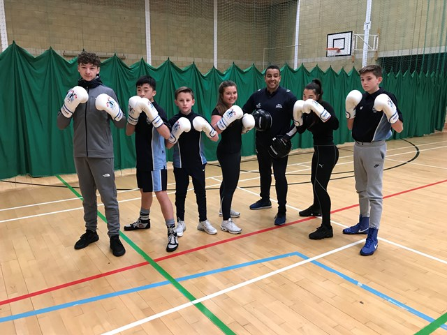 Amateur boxing helps to spread railway safety in Herts: John Warner school 1