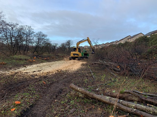 devegetation on Levenmouth project