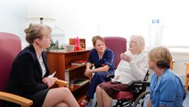 Shona Robison meets patients at Victoria Hospital