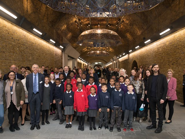 Landmark Artwork Unveiled at Opening of New 'Community' Walkway at London Bridge Station: Stainer Street Reopening Oct 2018 (1)