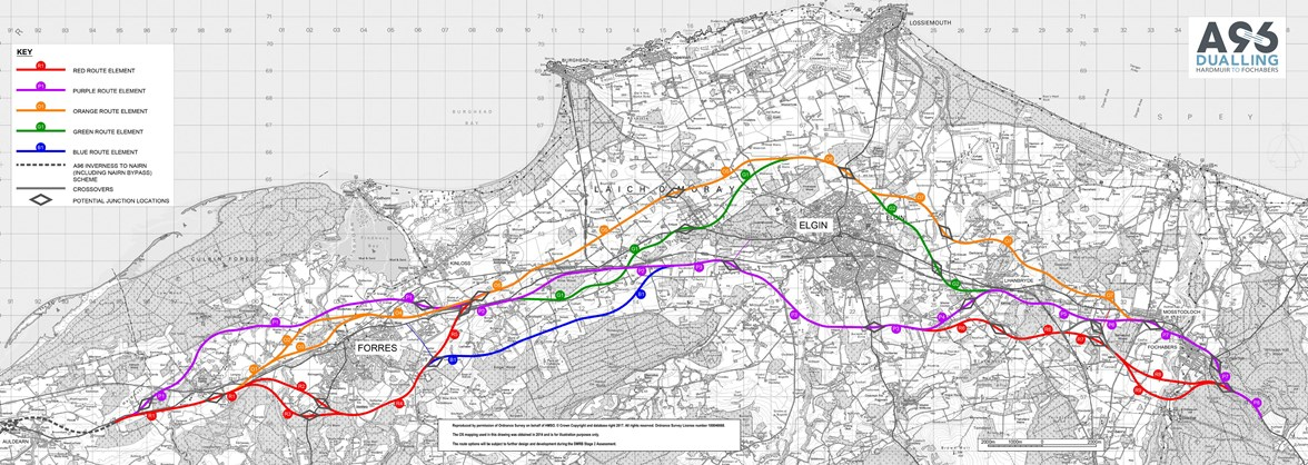 A96 H2F Route Options Long Plan
