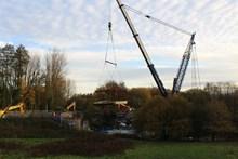 Burnley canal bridge lift 2