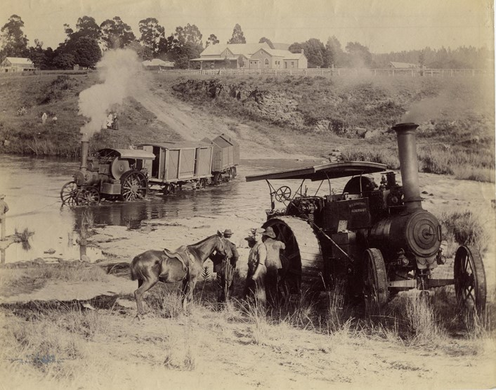 Leeds Industrial Museum: A Fowler traction engines being used during the Boer War
