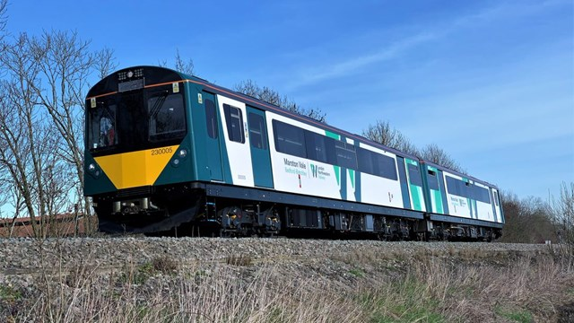 Railway crossing safety warning as trains return to Marston and Abbey Vale lines: Marston Vale - Class 230 (1)