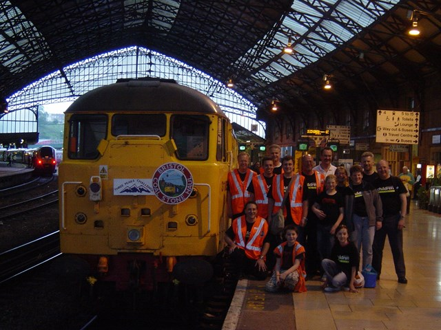 Bristol Coal-Stone Haul: The organisers at Bristol Temple Meads