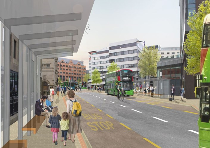 Traffic changes in Leeds city centre as two major Connecting Leeds schemes near completion: Infirmary