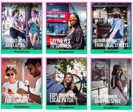 Because I'm a Londoner – Spirit of London Shines Through As London Businesses Come Together To Support City's Recovery: BIAL campaign pics