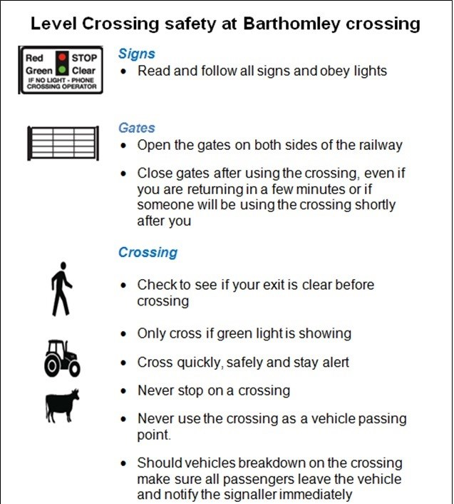 Barthomley level crossing user guide