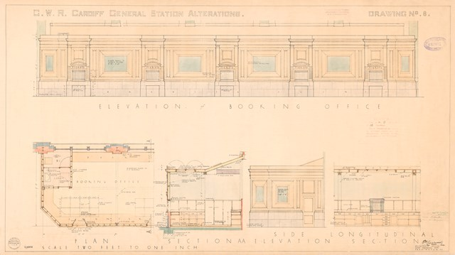 Cardiff Central - original drawing 2