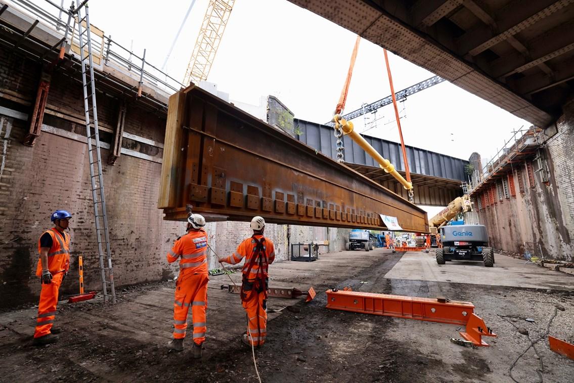 Work to reconstruct Dantzic St bridge