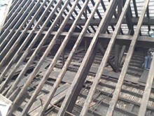 Wigan Wallgate original roof trusses during renovation